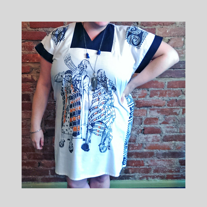 Buffalo Exchange dress: too small, who cares? Revamp it!