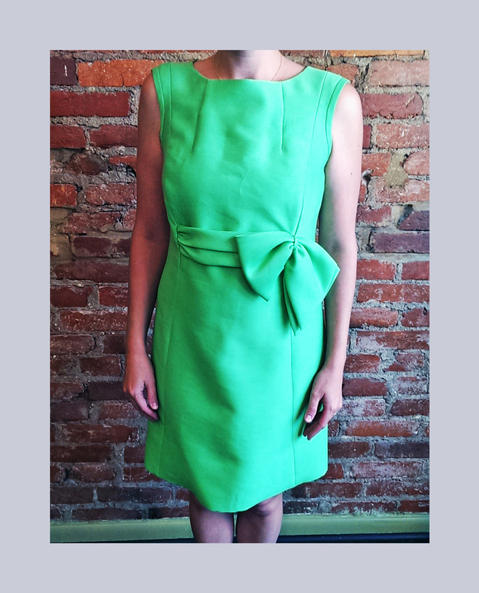 Vintage dress revamp–you have to see this before pic!