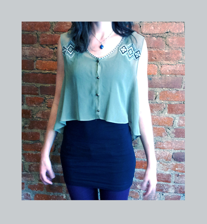 This simple revamp is a perfect top or layering piece for a summer wardrobe!